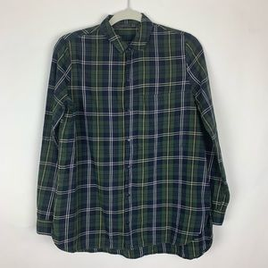 Zara Trafaluc forest green and blue flannel